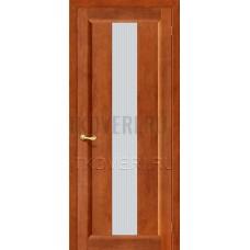 Вега-18 Темный орех дверь из массива сосны