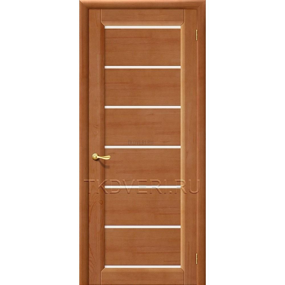 М2 Светлый лак дверь из массива сосны