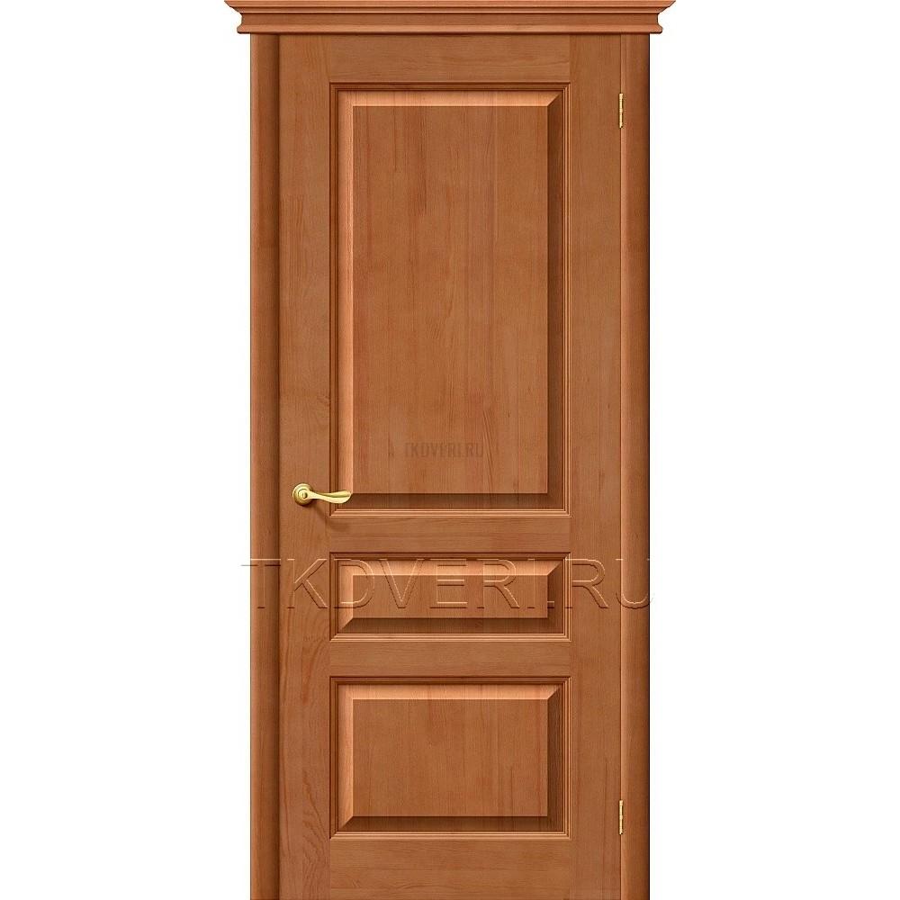М5 Светлый лак дверь из массива сосны