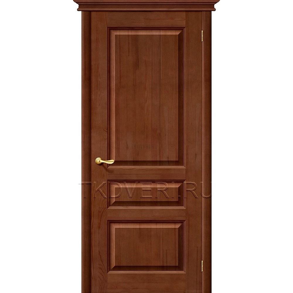 М5 Темный лак глухая дверь из массива сосны