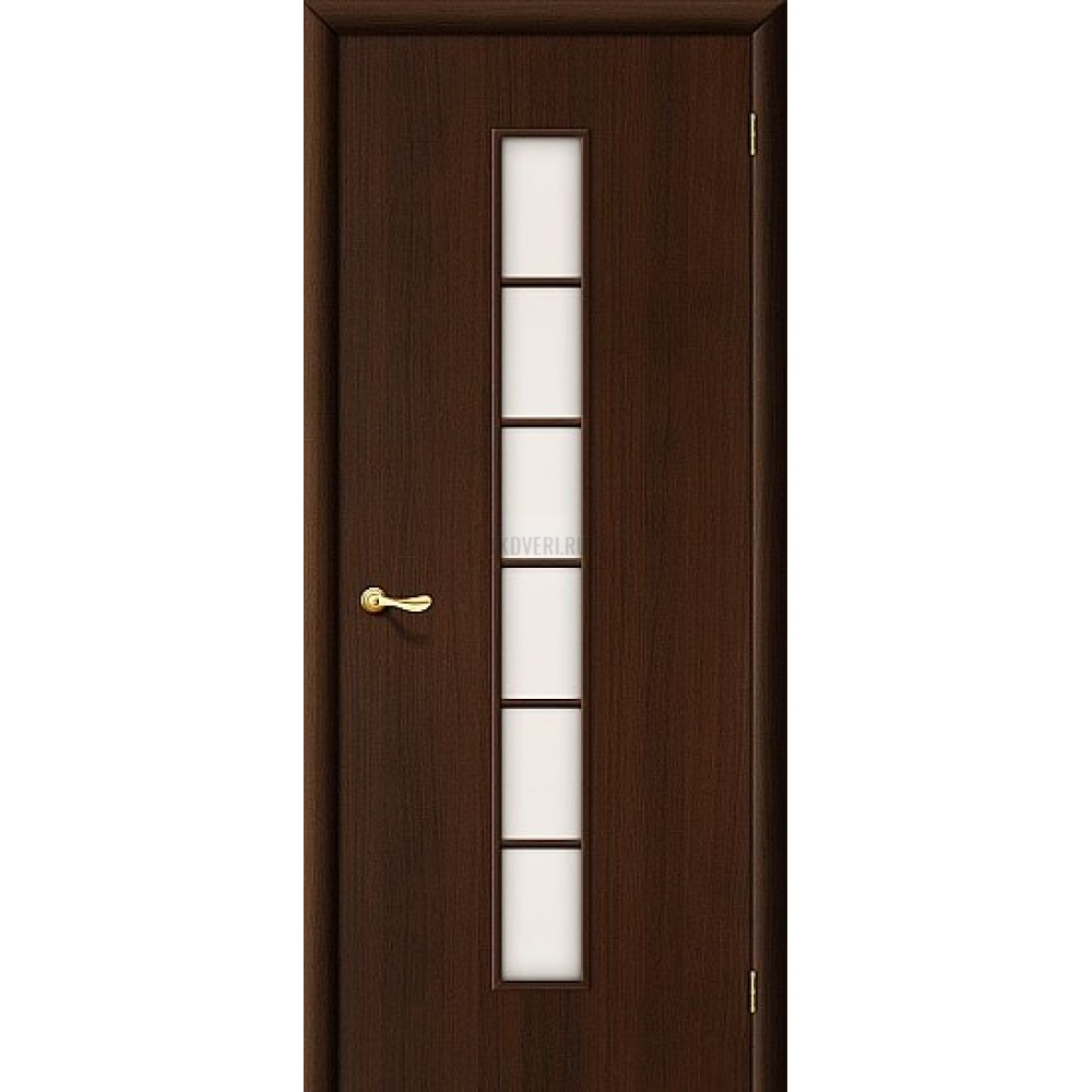 Ламинированная дверь со стеклом сатинато белое МДФ кромка ПВХ Венге 010-0310