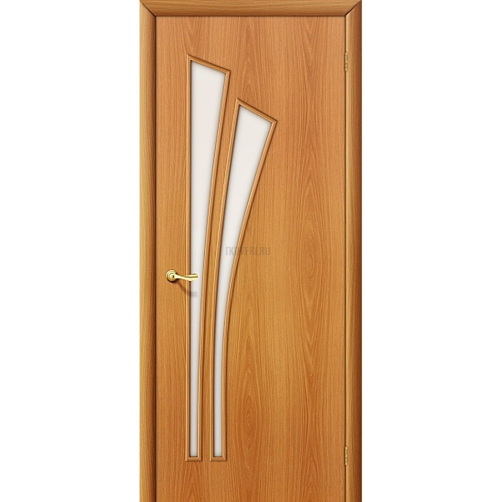 Межкомнатная дверь со стеклом МДФ с финишным покрытием МиланОрех 010-0388 190*55