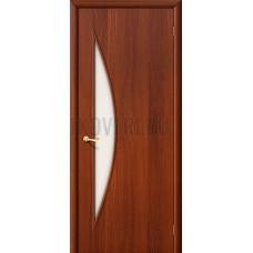 Ламинированная дверь с белым стеклом из МДФ ИталОрех 010-0430 190*55