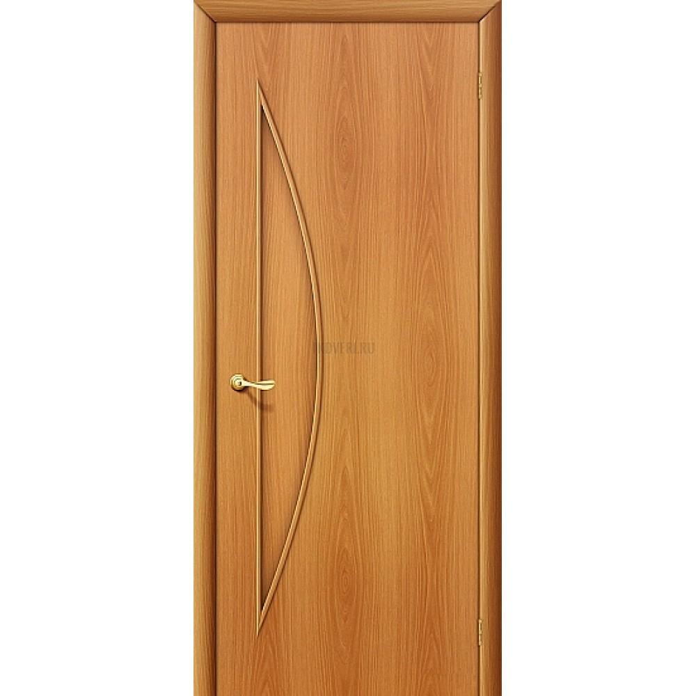 Ламинированная дверь глухая из МДФ МиланОрех 010-0413 190*55