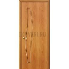 Глухая ламинированная дверь из МДФ МиланОрех 010-0464