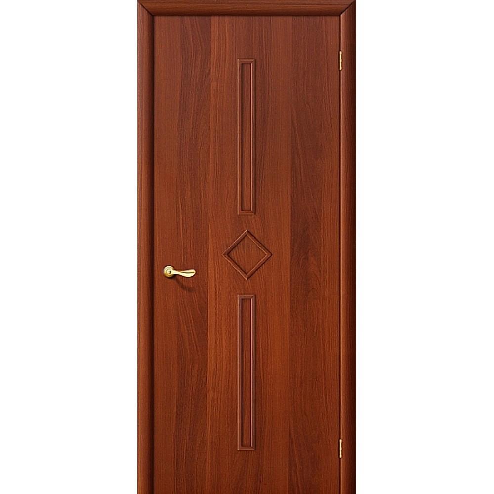 Дверь ламинированная из МДФ с финишным покрытием ИталОрех 010-0558 (глухая)