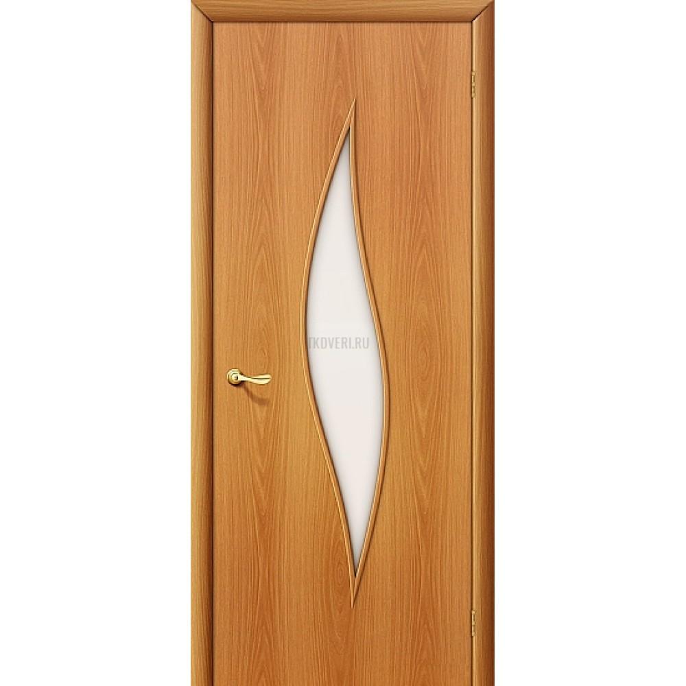 Ламинированная дверь со стеклом МДФ с отделкой МиланОрех 010-0069