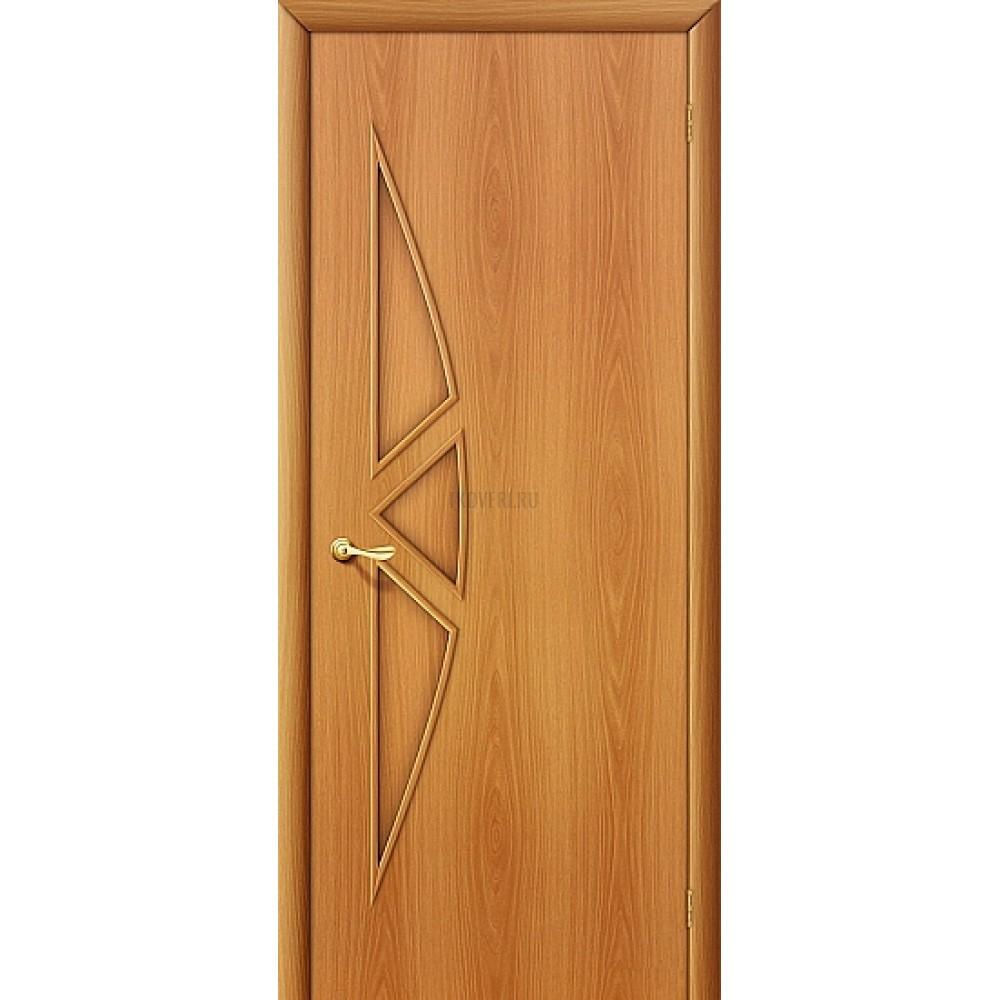 Ламинированная дверь глухая МДФ с финишным покрытием МиланОрех 010-0081