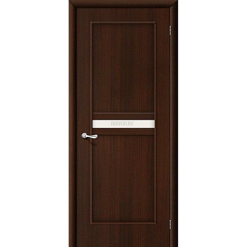 Ламинированная дверь стекло сатинато белое МДФ Венге 010-0133