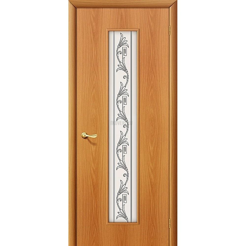 """Ламинированная дверь МДФ """"Витраж"""" МиланОрех 010-0234"""