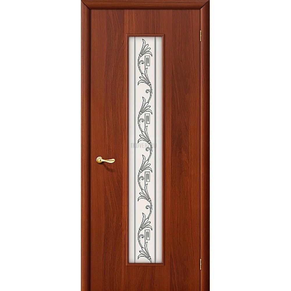 """Ламинированная дверь МДФ """"Витраж"""" ИталОрех 010-0228"""