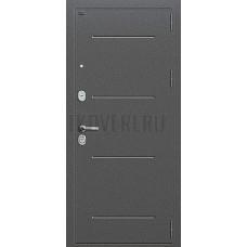 Дверь входная Groff Р2-216 Антик Серебро / П-28 Темная Вишня