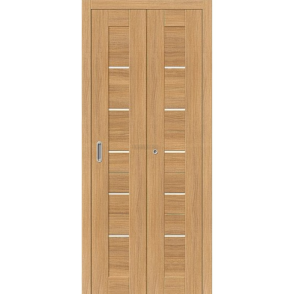 Дверь книжка Эко Шпон Порта-22 Anegri Veralinga стекло сатинато белое