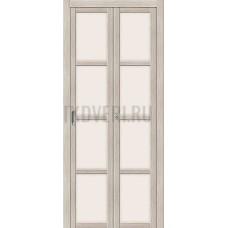 Дверь книжка  Эко Шпон Твигги V4 Cappuccino Veralinga