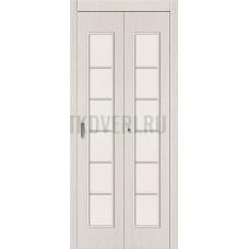 Дверь-книжка МДФ БелДуб 091-0374 со стеклом