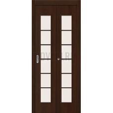 Дверь-книжка МДФ Венге 091-0372 со стеклом