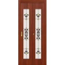 Дверь-книжка МДФ ИталОрех 091-0368 Витраж