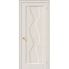 Дверь ПВХ Вираж Беленный дуб глухая