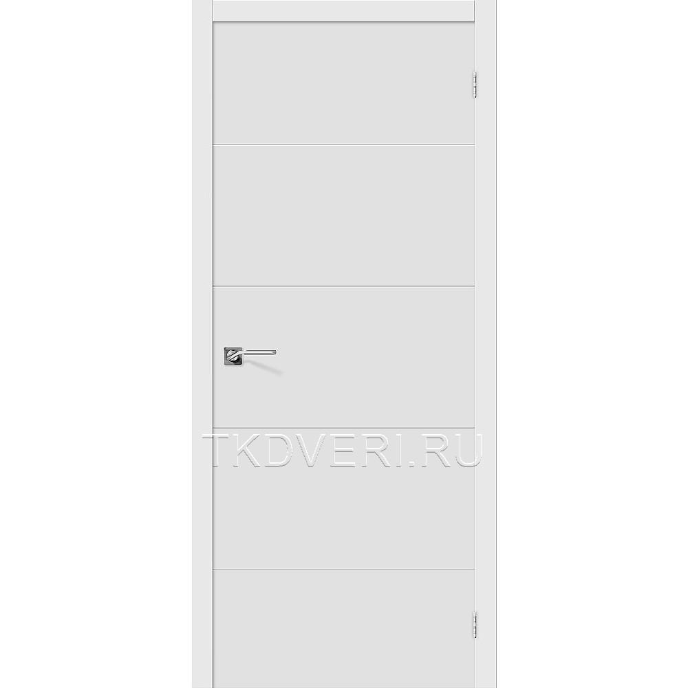 Дверь ПВХ Граффити-2 Белый глухая