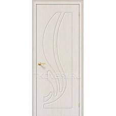 Дверь ПВХ Лотос Беленный дуб глухая