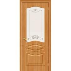 Дверь ПВХ Модена Миланский орех остекленная
