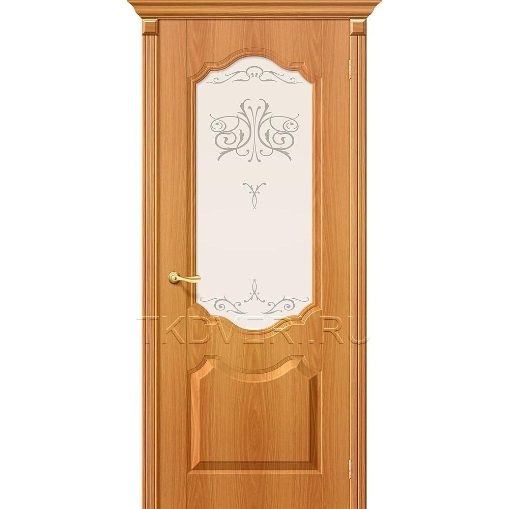 Дверь ПВХ Перфекта  Миланский орех остекленная