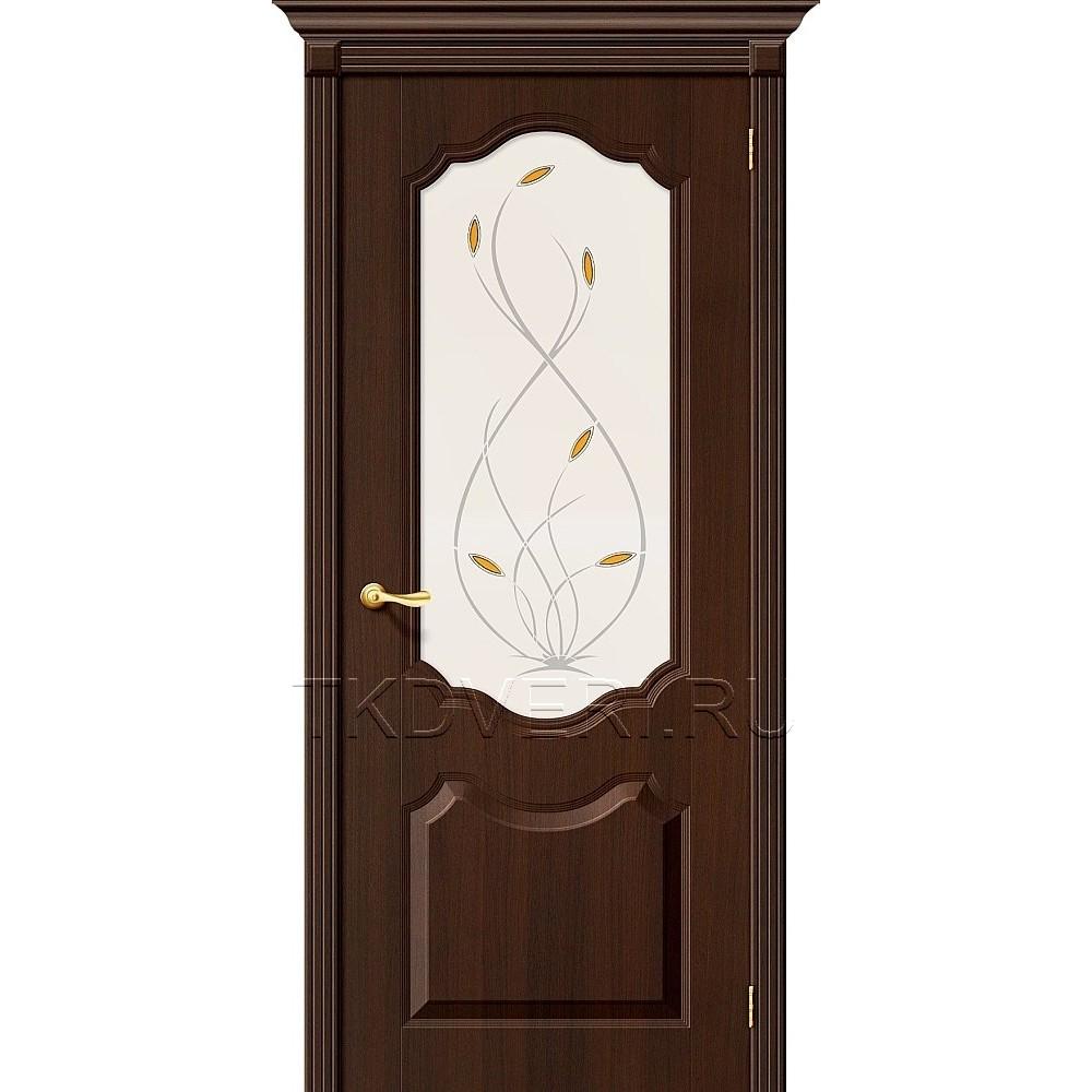Дверь ПВХ Перфекта Венге остекленная