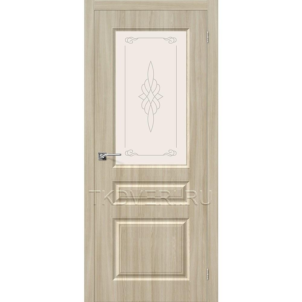 Дверь ПВХ Скинни-15 Шимо светлый остекленная