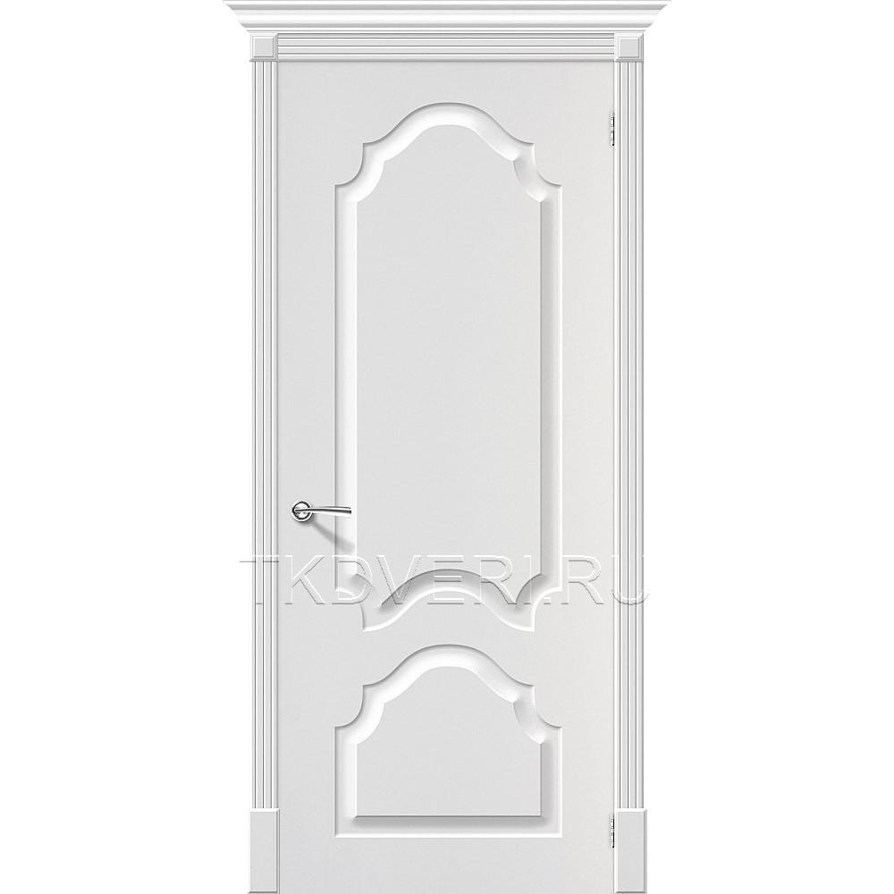 Дверь ПВХ Скинни-32 Белый глухая