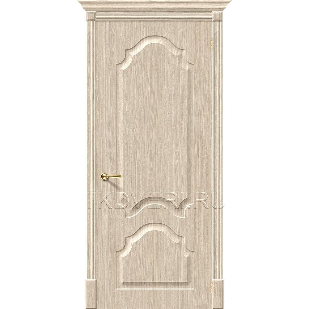 Дверь ПВХ Скинни-32 Беленный дуб глухая