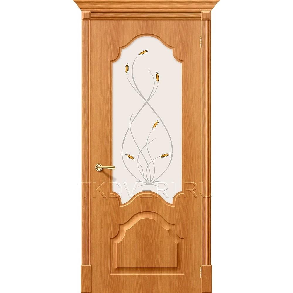 Дверь ПВХ Скинни-33 Миланский орех остекленная