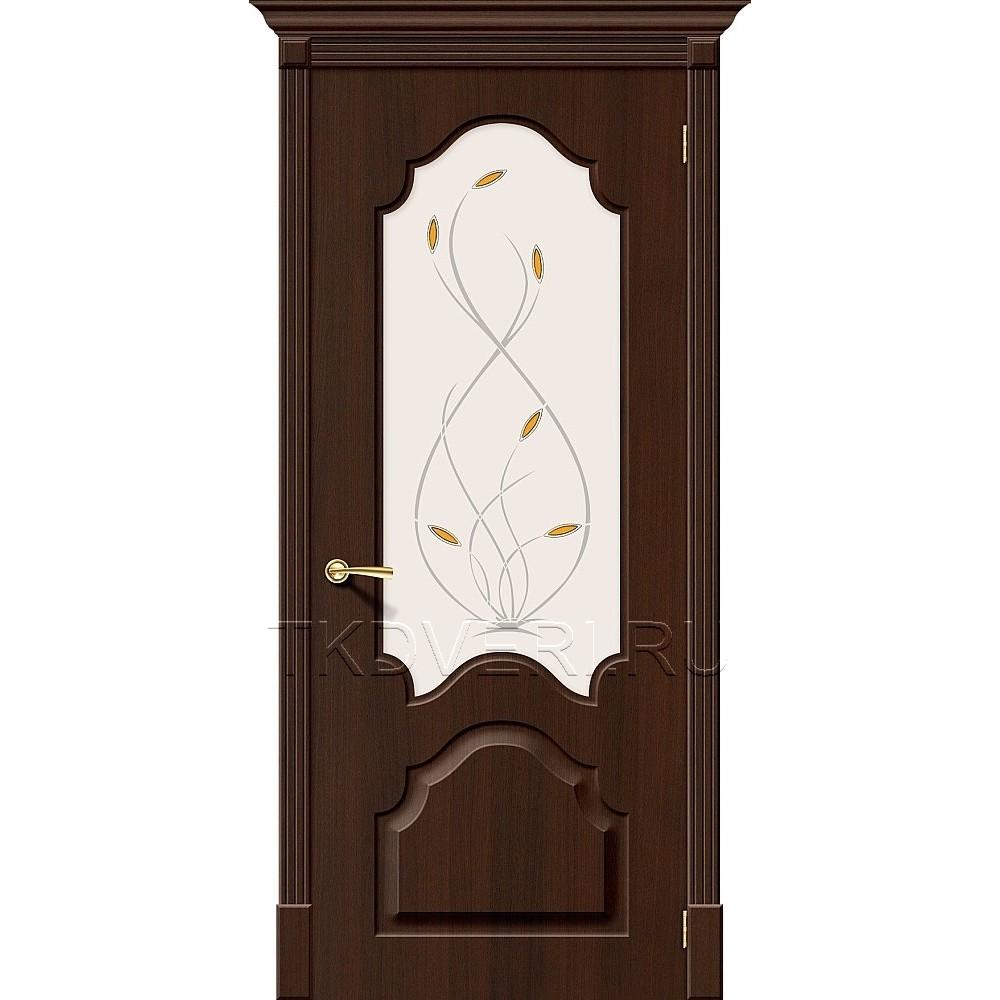 Дверь ПВХ Скинни-33 Венге остекленная