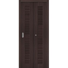 Дверь книжка Эко Шпон Порта-21 Wenge Veralinga