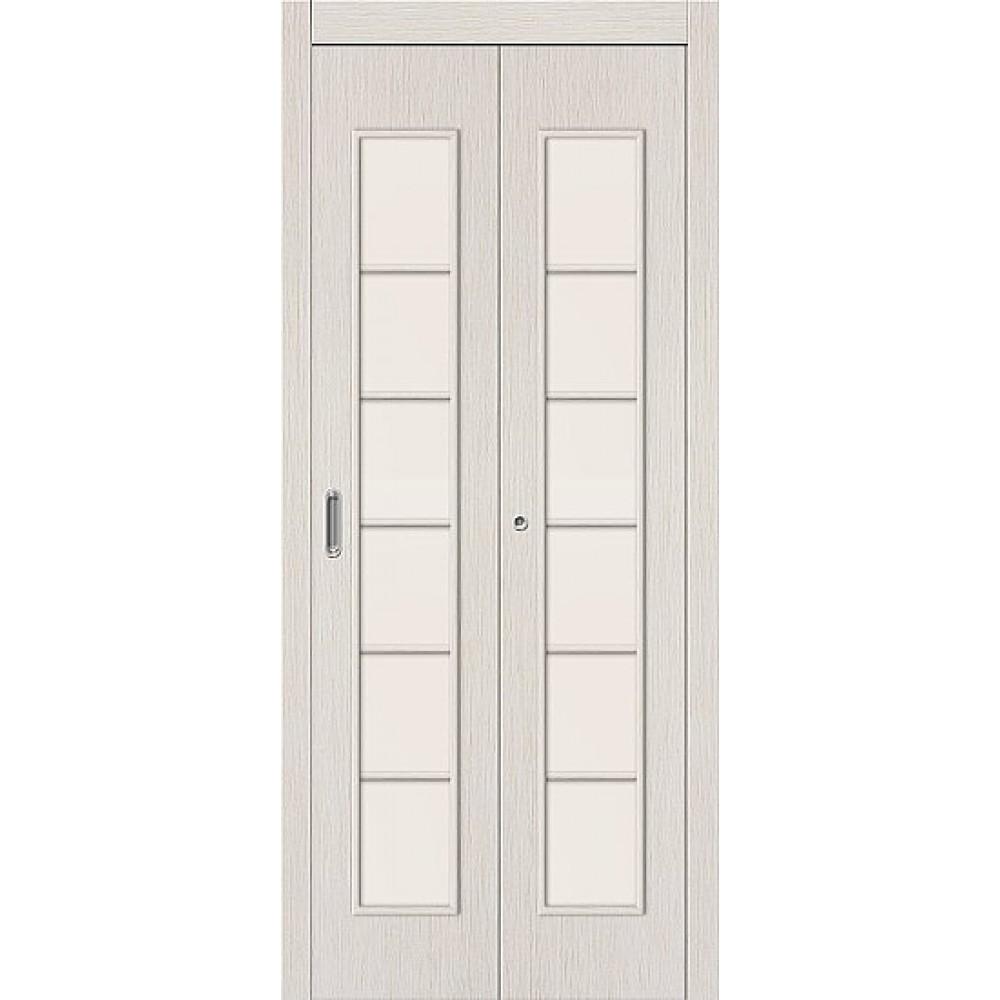 Межкомнатная дверь-книжка МДФ БелДуб 091-0374 со стеклом
