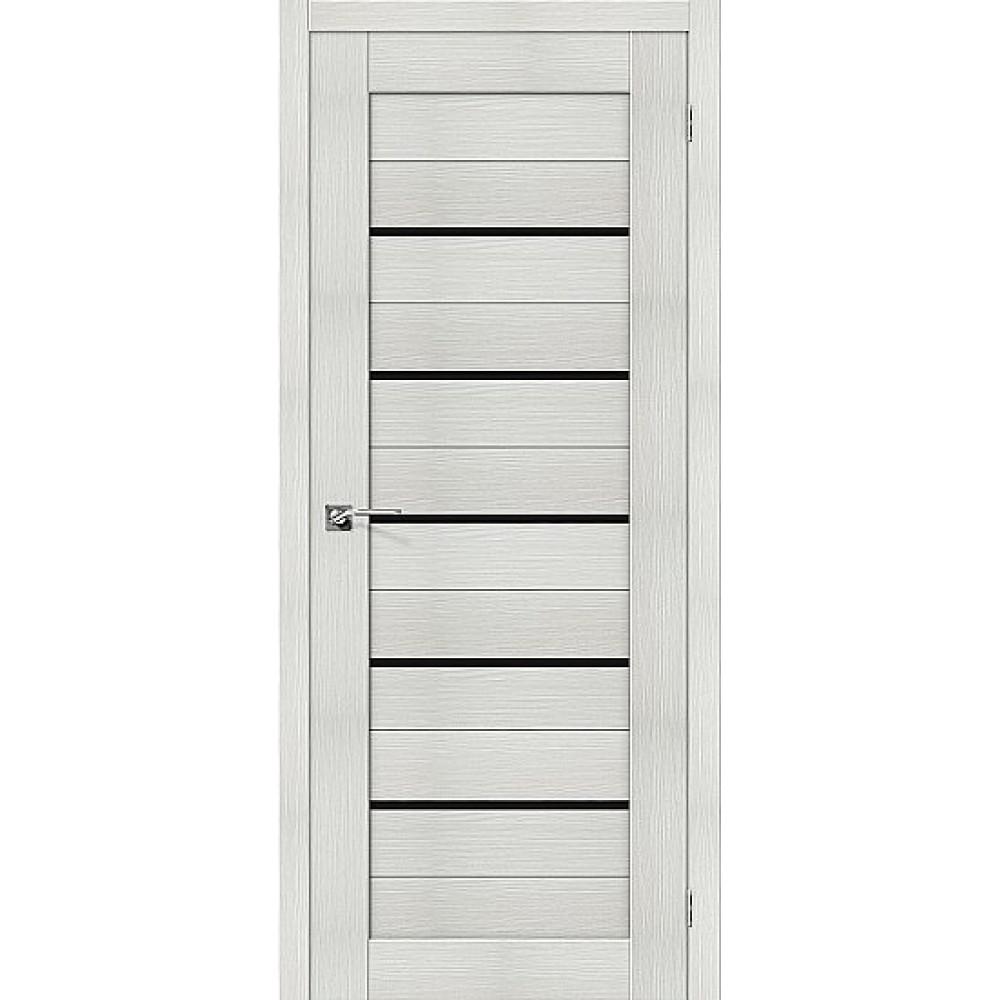 Дверь экошпон Порта-22 Bianco Veralinga/Black Star