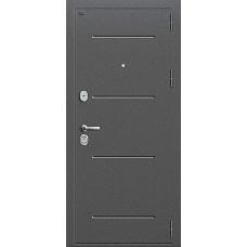 Дверь входная Groff Т2-204 Антик Серебро / Cappuccino Crosscut
