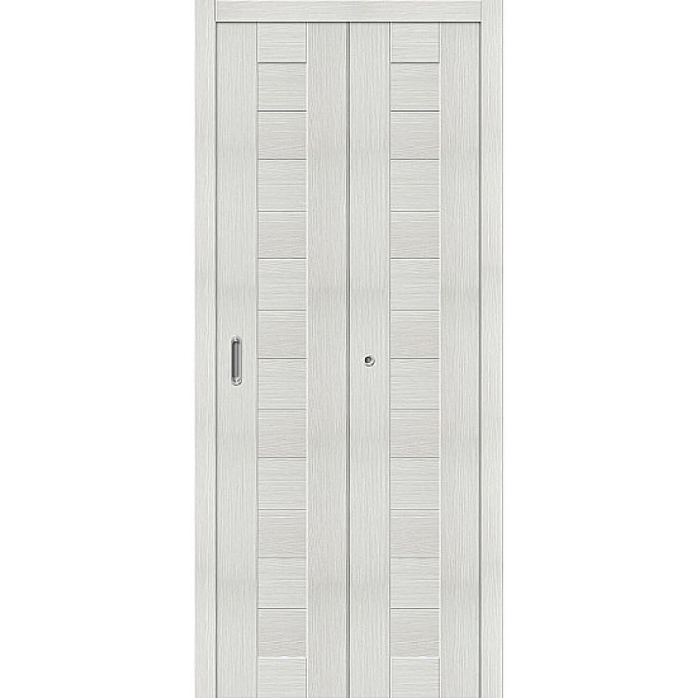 Дверь книжка Эко Шпон Порта-21 Bianco Veralinga