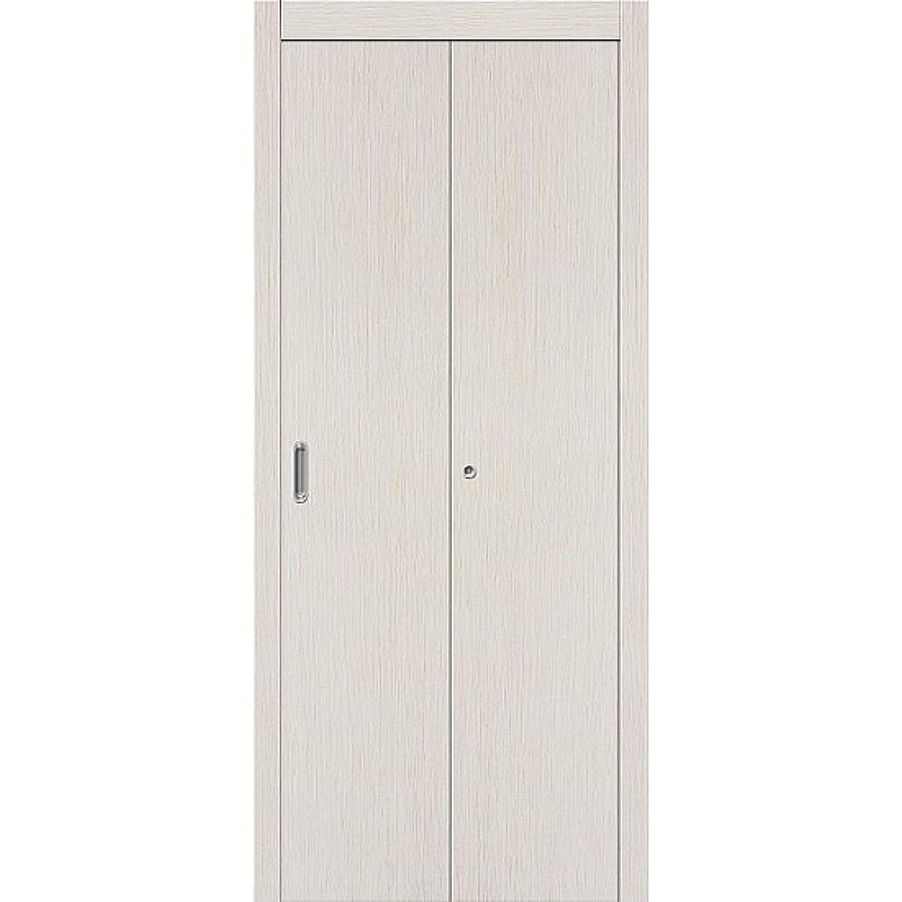 Межкомнатная  дверь-книжка МДФ 069-0772 БелДуб