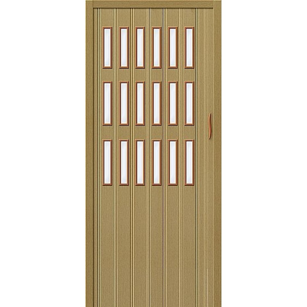 Дверь гармошка ПВХ Светлый дуб