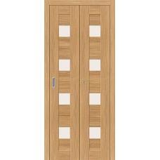 Дверь книжка Эко Шпон Порта-23 Anegri Veralinga стекло сатинато белое