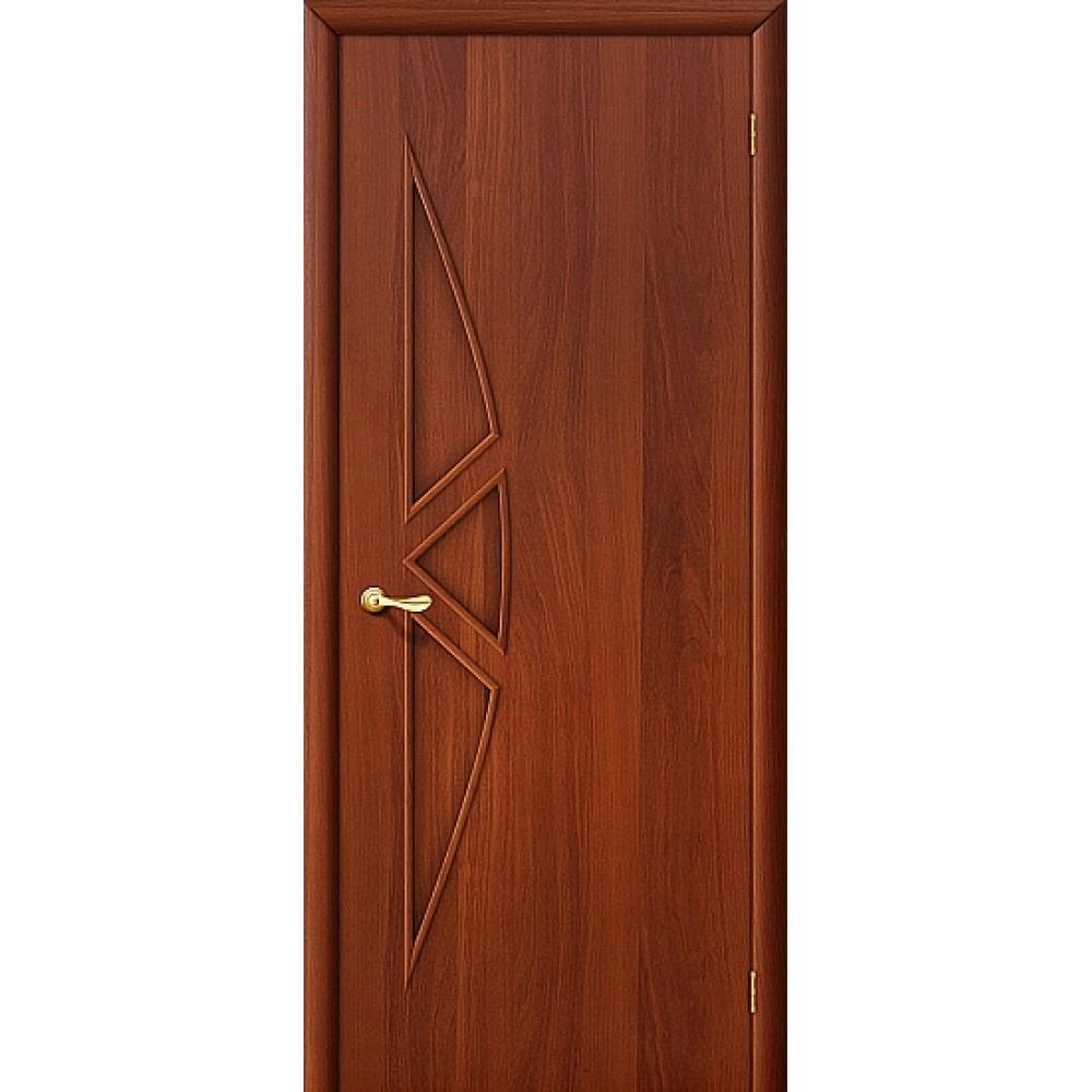 Ламинированная дверь глухая МДФ с финишным покрытием ИталОрех 010-0075