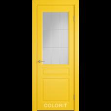 К2 COLORIT ДО матовое с фрезеровкой Желтая эмаль