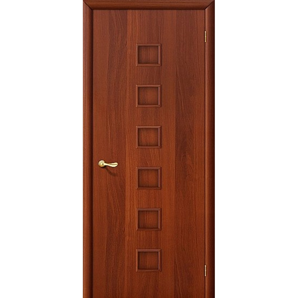 Ламинированная дверь глухая МДФ ИталОрех 010-0137