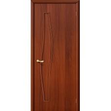 Глухая ламинированная дверь из МДФ ИталОрех 010-0457