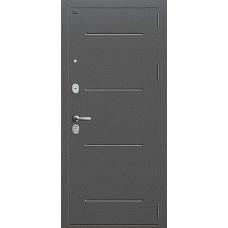 Дверь входная Groff Р2-216 Антик Серебро / П-25 Беленый Дуб