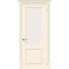 Дверь эмаль Скинни-13 Cream остекленная
