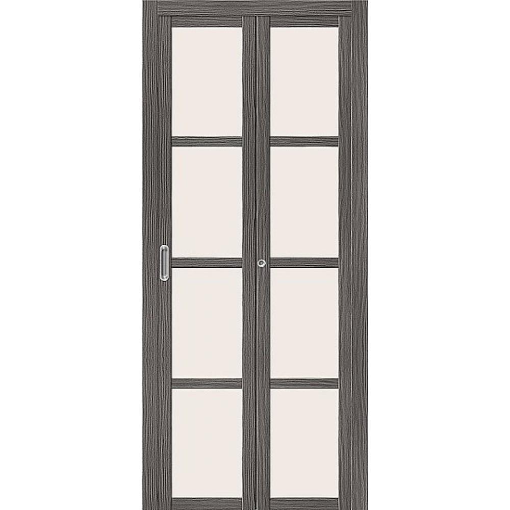 Дверь книжка  Эко Шпон Твигги V4 Grey Veralinga
