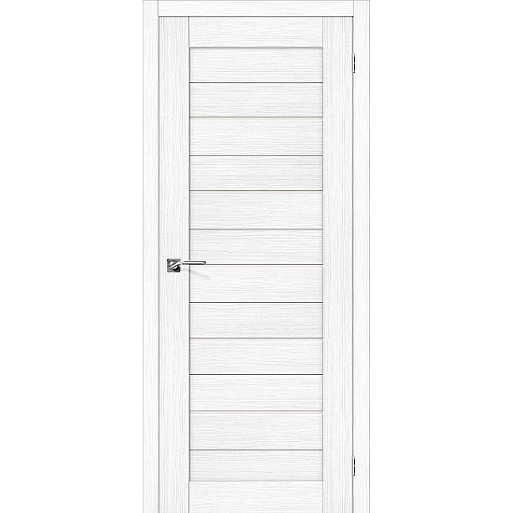 Дверь экошпон Порта-22 Snow Veralinga